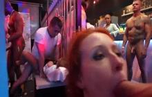 Dancing and fucking at a sex party in the club