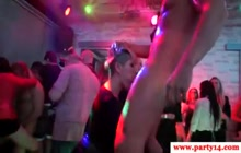 Crazy european girls sucking cocks on a party